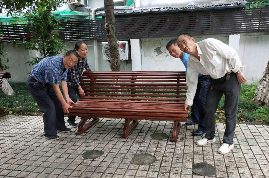 杭州天杭社区 爱心捐助户外休闲椅