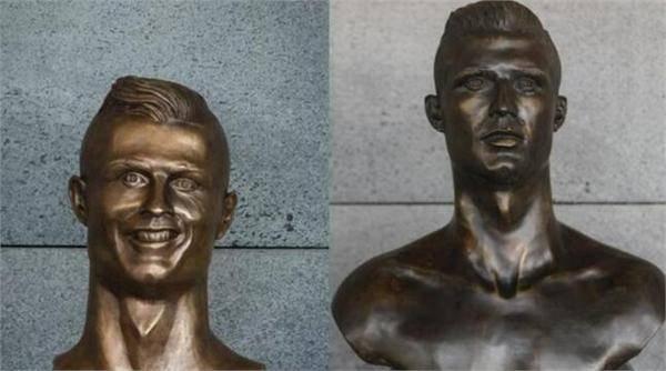 "C罗机场铜像被换 旧有""魔性""雕像已被移走"