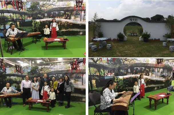 今年的展厅继续以苏州园林为设计主题,为参观者营造出古朴自然,清新典