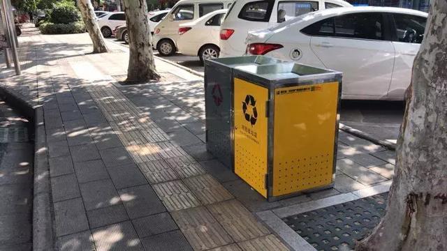 荆州开发区:果壳箱能自动关闭