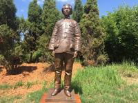 武汉江夏:毛泽东青铜雕像园落户