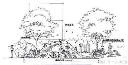 最新经典钢笔手绘园林景观设计方案效果图(全套)图片