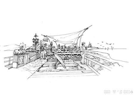 最新经典钢笔手绘园林景观设计方案效果图 全套 园林花卉