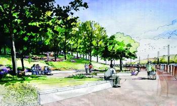 南充常青路景观工程启动 西河堤岸将添新景图片