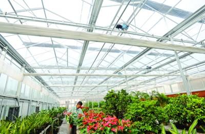 花房的温度加高就增湿的电路图