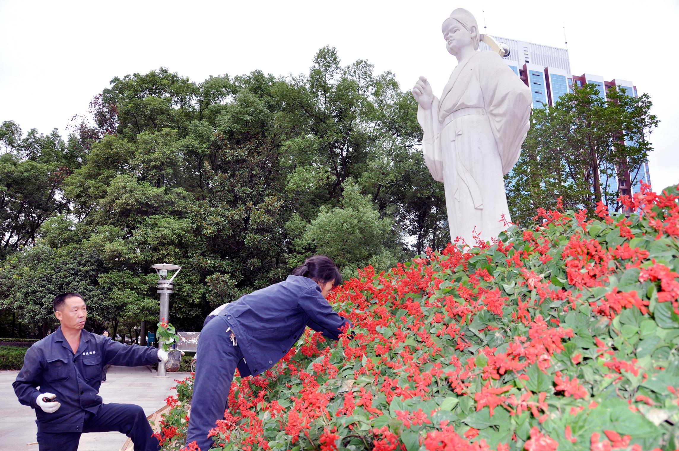 娄底2011年国庆花卉展览开始布展- 园林资讯 - 中国