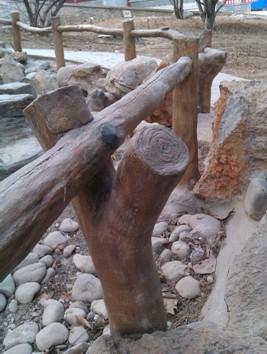 水泥手工仿木栏杆