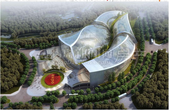 """青岛世园会植物馆规划:巨型""""玻璃伊甸园"""""""