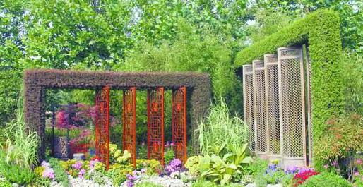 特色资材 园林小品为花坛增色 组图