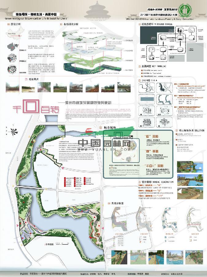 园林景观设计展板 家庭园林景观设计 农家乐园林景观设计