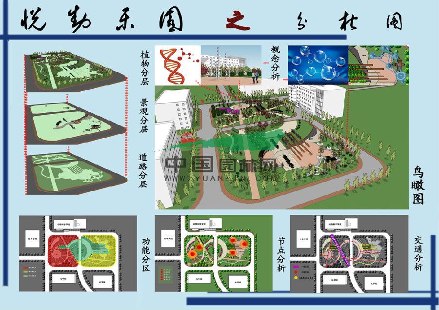 大学校园绿地规划设计