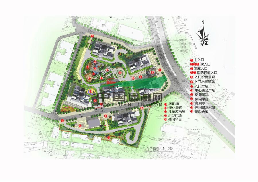 重庆市大渡口公租房景观设计