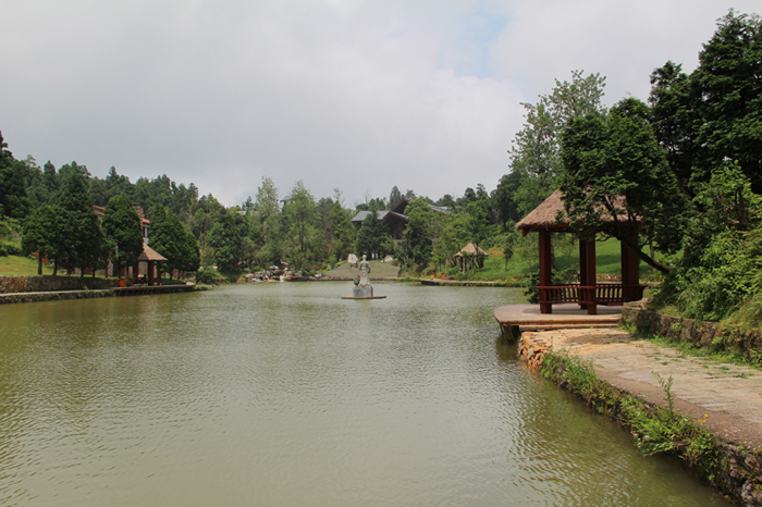 园林水景小景透视