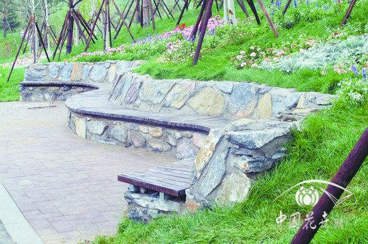 新中式景观树池座椅