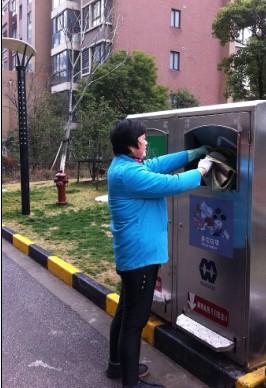 江苏省无锡市新型分类垃圾桶落户惠山开发区