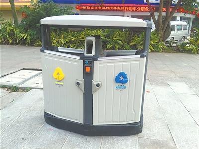 180个新型环保垃圾桶亮相来宾城区主干道