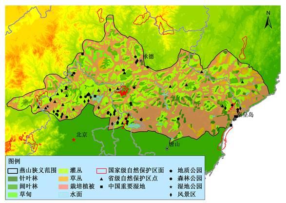 和天津市周边,其他几个处于承德和秦皇岛市区周围