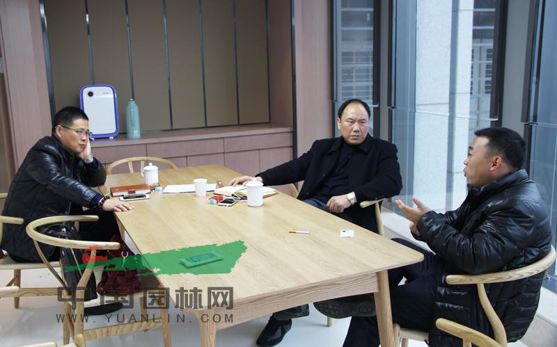 江苏省苗木商会徐州分会会长与中国园林网共商合作发展