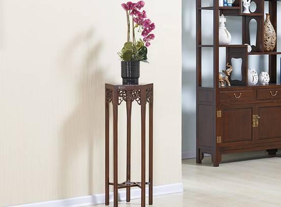 中式实木花架 讲述点缀的艺术图片