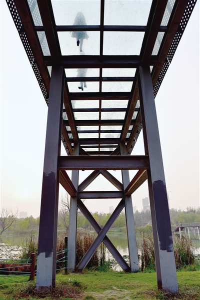 郑州:雕塑公园现玻璃栈道