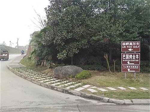 """重庆市政将人行道""""修""""上草坪"""