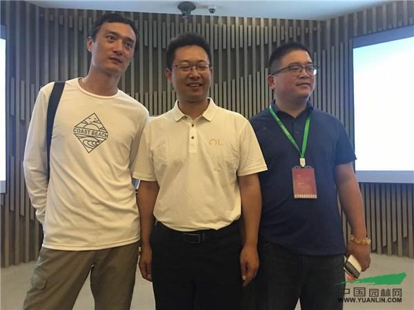 中苗联秘书长翁灵魏(左),东方园林环境集团工程中心副总裁冉林(中)