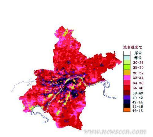 城市市风道 武汉 高楼 热岛 中国风景园林网