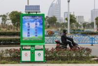 平湖:新型果壳箱 用上太阳能