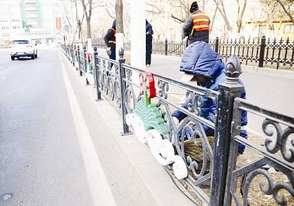 辽宁鞍山:护栏也亮化