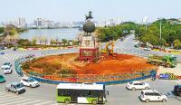 鄂州:马踏飞燕雕塑即将搬新家