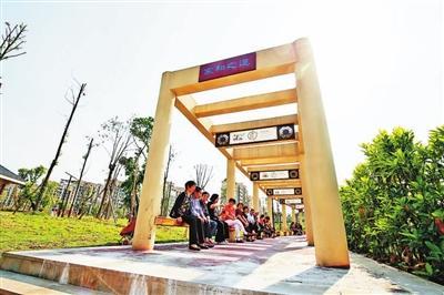 重庆沙坪坝丰文街道提升 建文化长廊景观亭