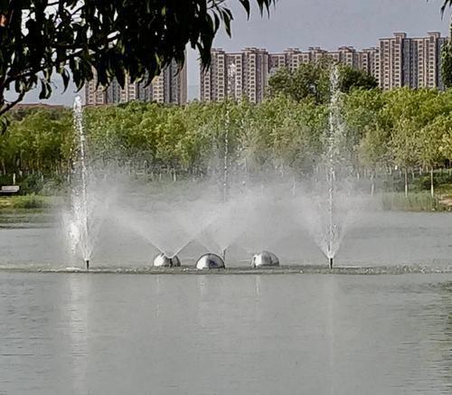 """包头奥林匹克公园自制增氧循环""""神器"""""""