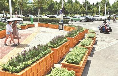 合肥移动花箱分流交通