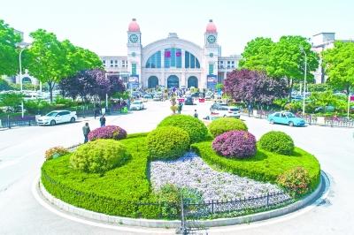 湖北汉口火车站南广场绿化彰显艺术范