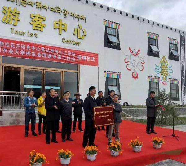 青藏高原功能花卉研究中心黄丛林博士工作站授牌