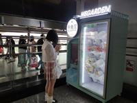 重庆轻轨站内现鲜花自动售卖机